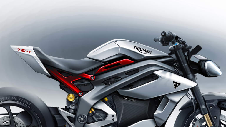 Triumph Motorcycles and Williams Advanced Engineering previews the Triumph TE-1
