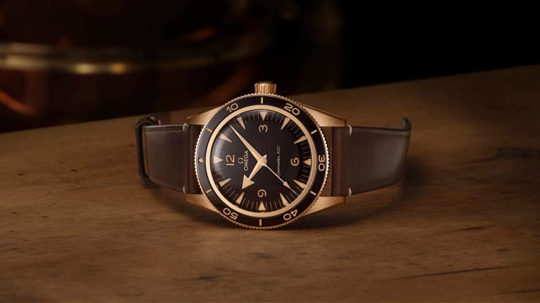 Omega unveils a new Bronze Gold version of their Seamaster 300