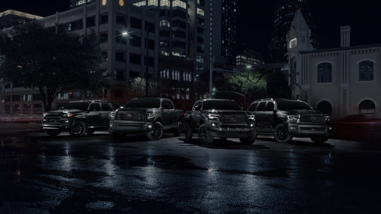 Toyota launches its Nightshade trucks and SUVs