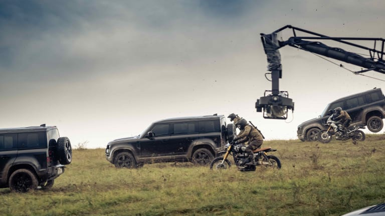 Land Rover shows off the new Defender's all-terrain capabilities in its new TV spot