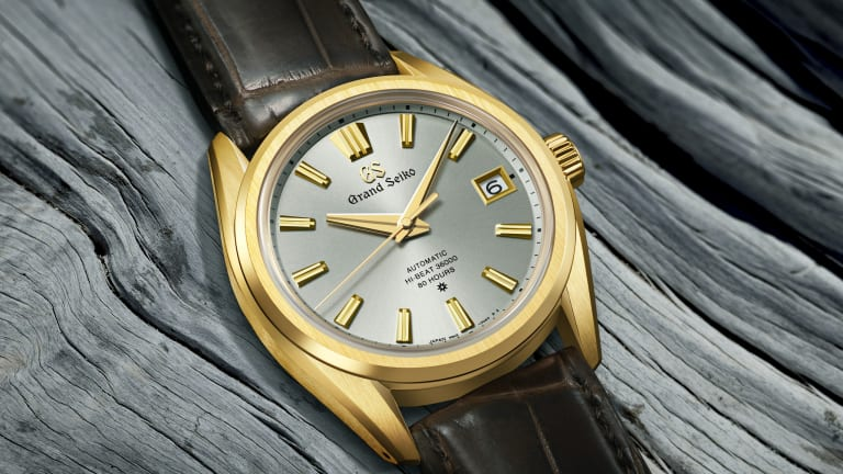 Grand Seiko's SLGH002 celebrates the brand's future with a next-gen movement and 18k gold