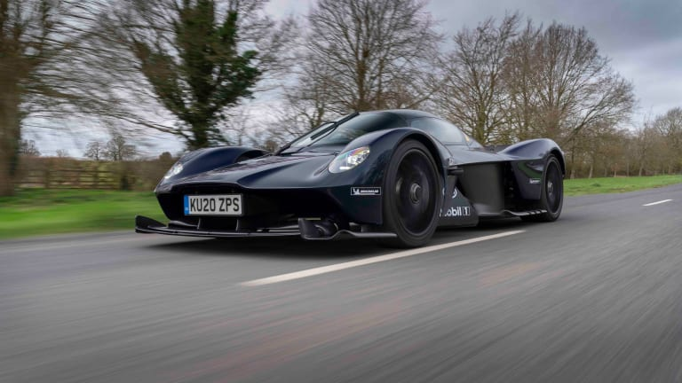 Aston Martin hits the streets in the upcoming Valkyrie hypercar