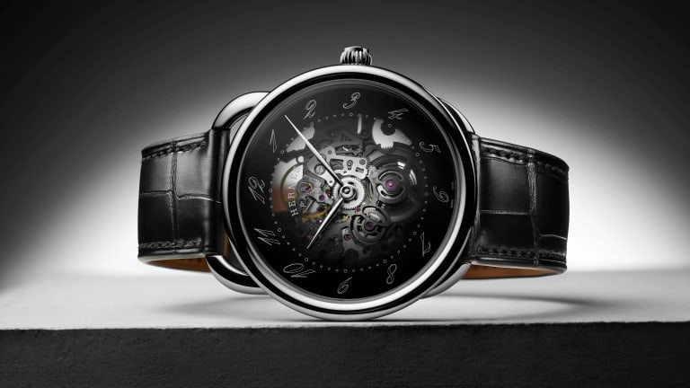 Hermès reveals its elegant approach to a skeletonized watch with the Arceau Squelette