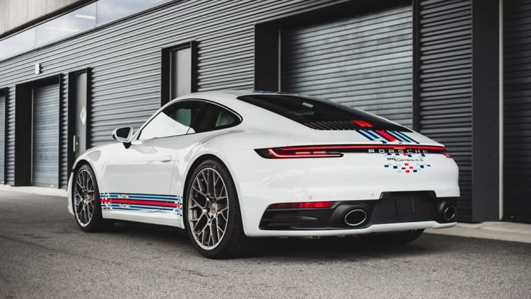Porsche Exclusiv Manufaktur unveils a modern take on the Martini livery for the 911