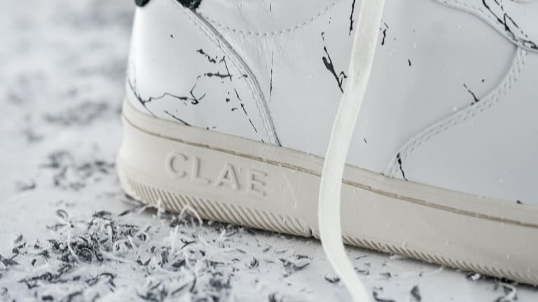 Son of Cobra brings its marbleized graphics to Clae's latest style, the Malone