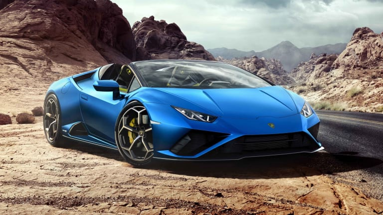 Lamborghini conjures up dreams of supercar-filled summer escapes with the Huracán EVO RWD Spyder