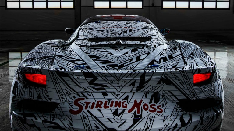 Maserati previews its upcoming MC20 with a prototype dedicated to Stirling Moss