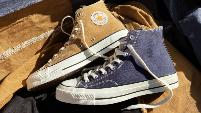 Converse and Carhartt WIP release a Chuck 70 made from upcycled work fabric