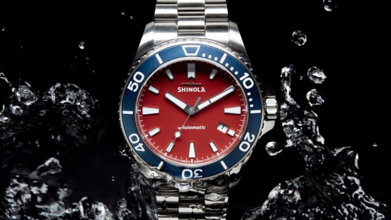 Shinola's latest dive watch is inspired by Michigan's lighthouses
