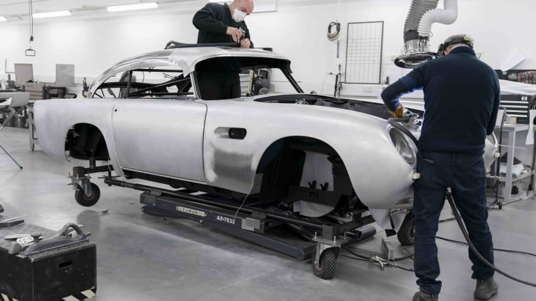 Aston Martin offers up a peek into the progress of its DB5 Goldfinger Continuation series