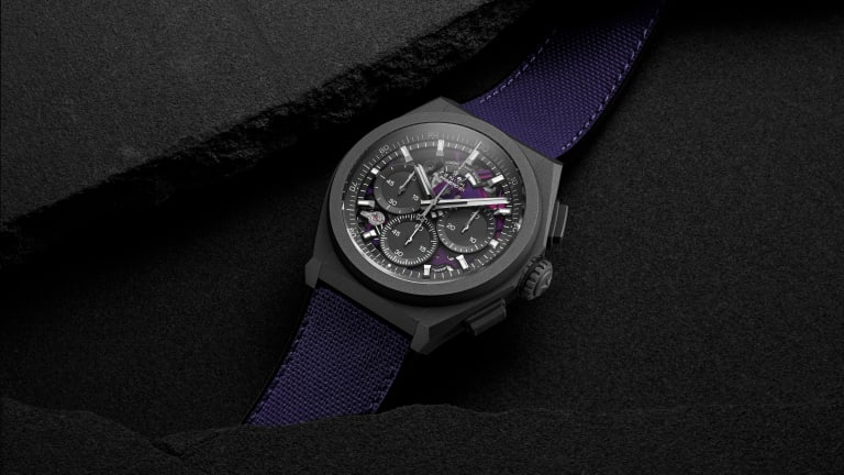 Zenith's new Defy is the first watch to feature a violet movement