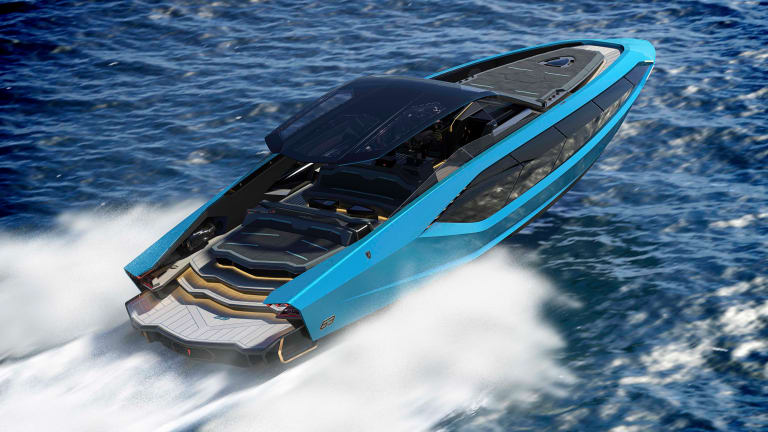 Lamborghini and The Italian Sea Group hit the water with the Tecnomar for Lamborghini 63