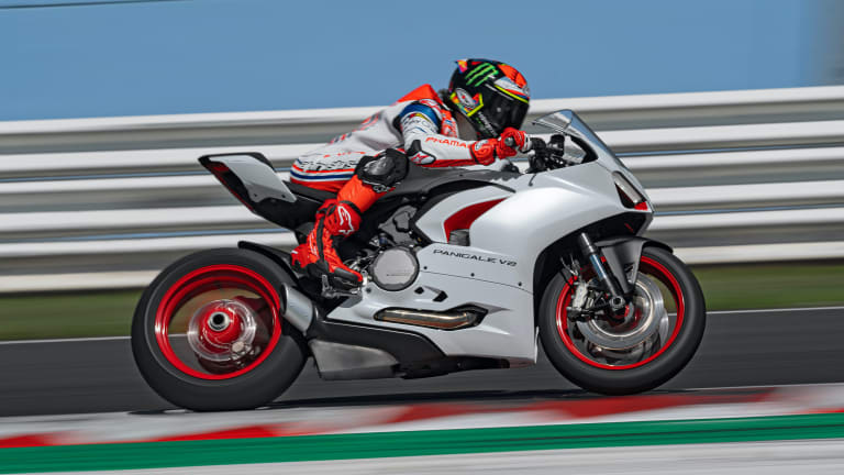 Ducati reveals a new White Rosso livery for the Panigale V2