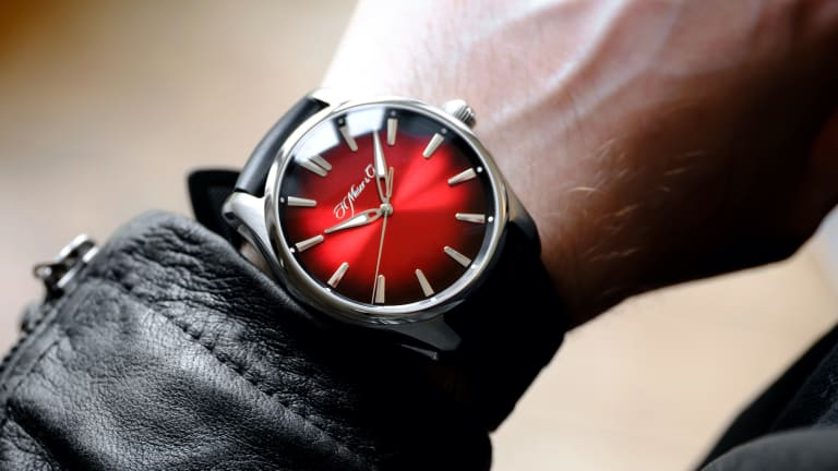 H. Moser & Cie. adds a bold red fumé dial to its Pioneer line