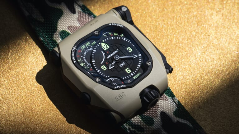 Urwerk's Desert Sage EMC TimeHunter is an M1A1 for your wrist