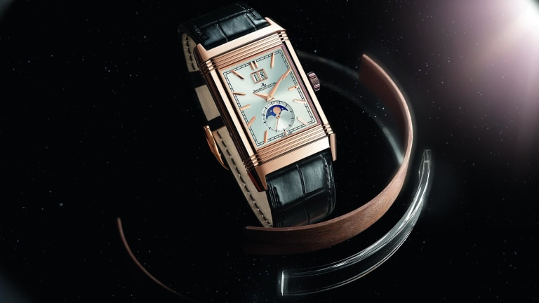 Jaeger-LeCoultre elegantly hides an array of complications in its new Reverso Tribute Nonantième