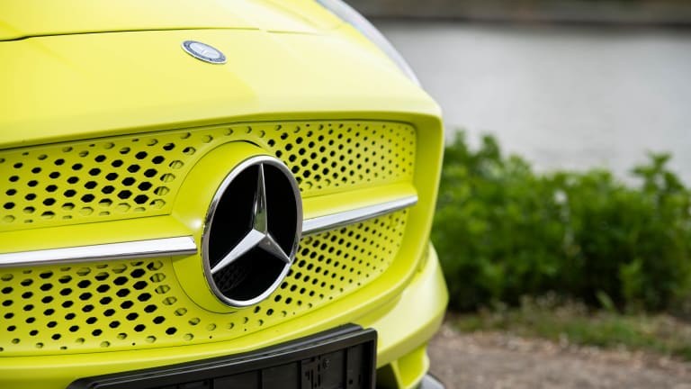 A rare example of the Mercedes-Benz SLS AMG Electric Drive has just gone up for sale