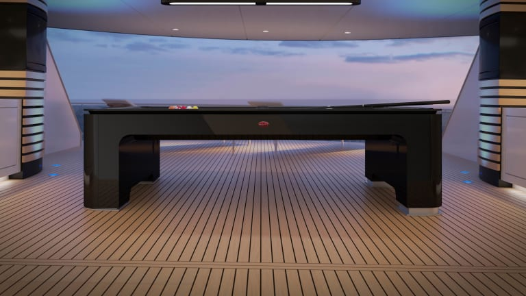 Bugatti reveals a high-tech pool table made with the same materials as its cars
