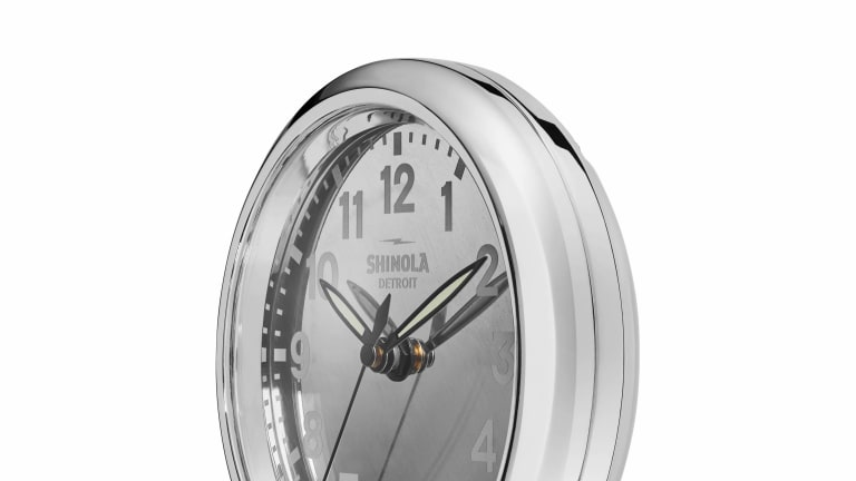 Shinola used the aluminum panels from an MD-80 for their latest Desk Clock