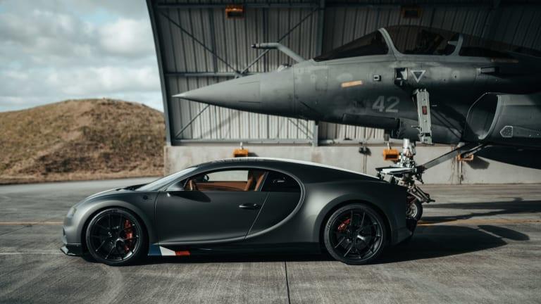 Watch | The Bugatti Chiron meets the Dassault Rafale Marine