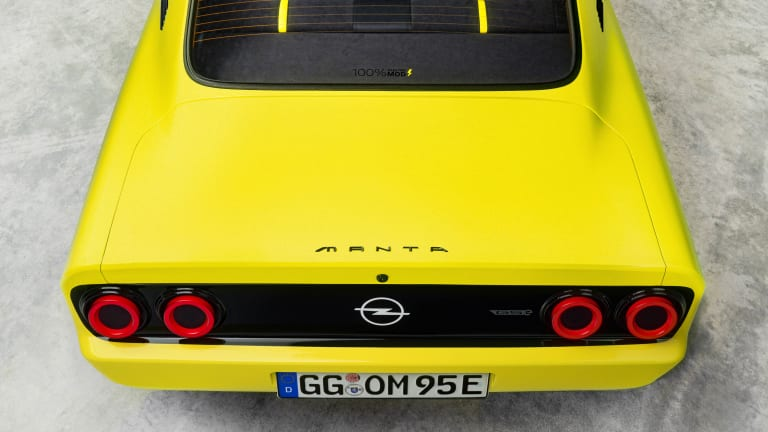 Opel electrifies the Manta with an all-electric, rear-wheel-drive restomod