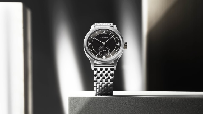 Longines releases a new version of the Heritage Classic with a black sector dial