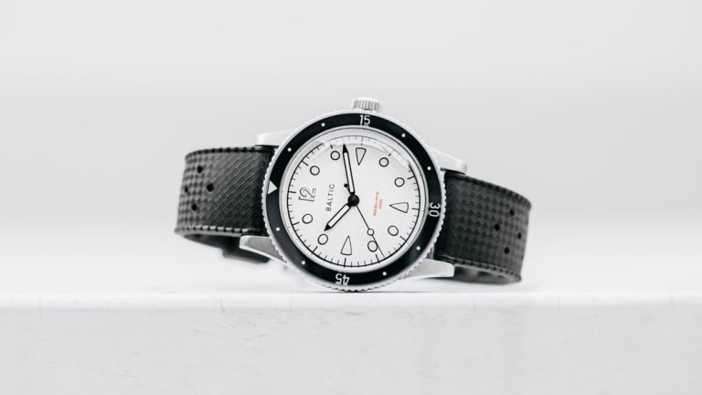Baltic updates its Aquascaphe model with a new white dial option