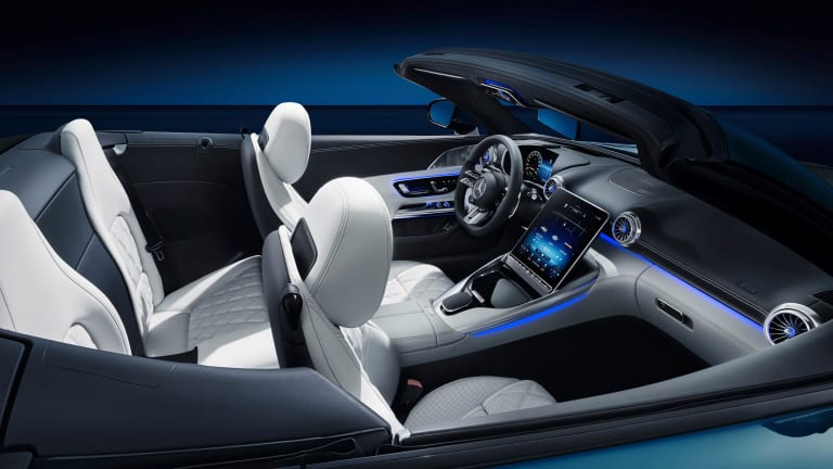 """Mercedes-AMG teases the """"hyperanalog"""" interior of the upcoming SL"""