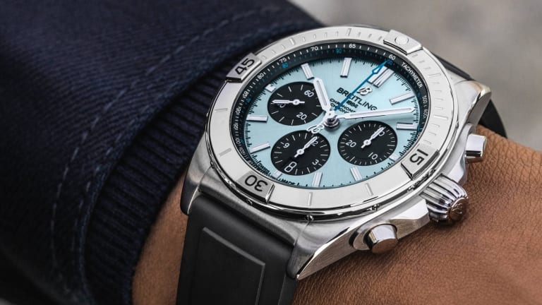 Breitling releases adds an Ice Blue dial to the Chronomat B01 range