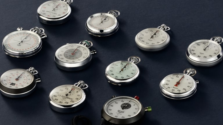 Tracksmith and Eric Wind put together a collection of vintage stopwatches