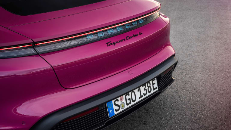 The 2022 Porsche Taycan will arrive later this year with new tech and a wider selection of paint options