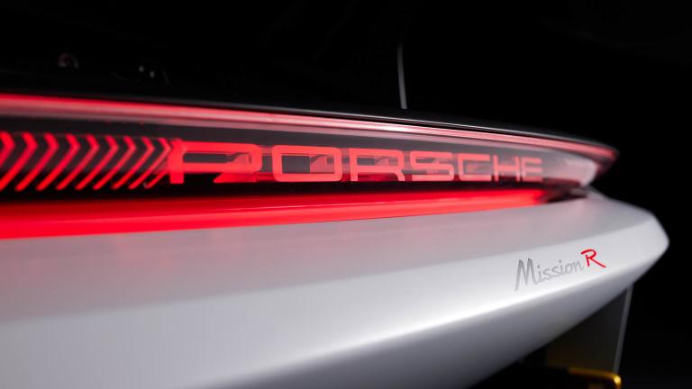 Porsche unveils its all-electric race car concept, the Mission R