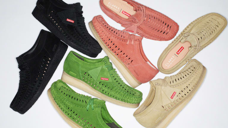 Supreme teams up with Clarks on a custom version of the Wallabee