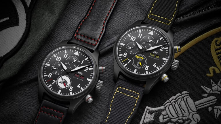 IWC releases a trio of ceramic chronographs inspired by US Navy squadrons
