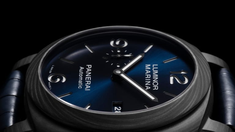 Panerai releases an exclusive Luminor Marina Carbotech Blu Notte for its online store