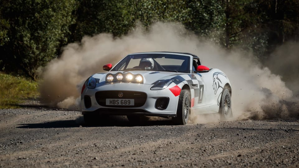 Jaguar celebrates 70 years of their sports car heritage with a rally-grade F-Type