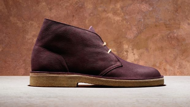 Clarks Kudu Grape Leather