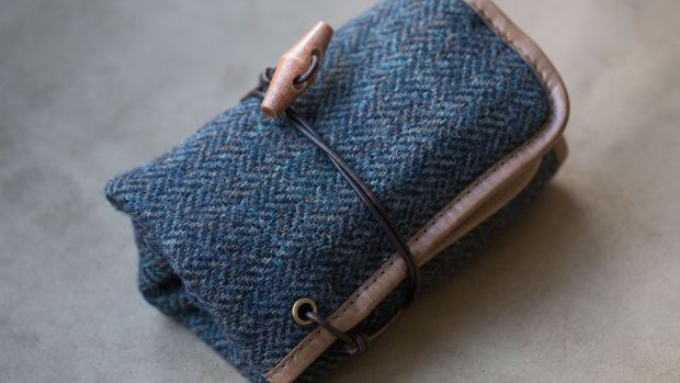 Worn and Wound Tweed Watch Roll