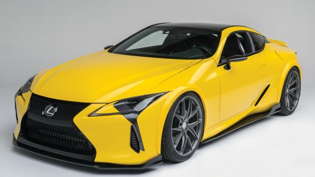 Lexus LC 500 front profile view