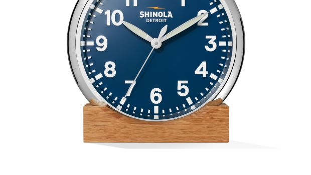 Shinola Blue Wall Clock with stand