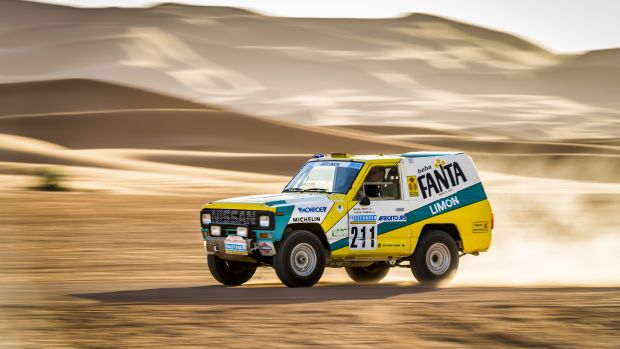 1987 Nissan Paris Dakar Rally Car Fanta Limon