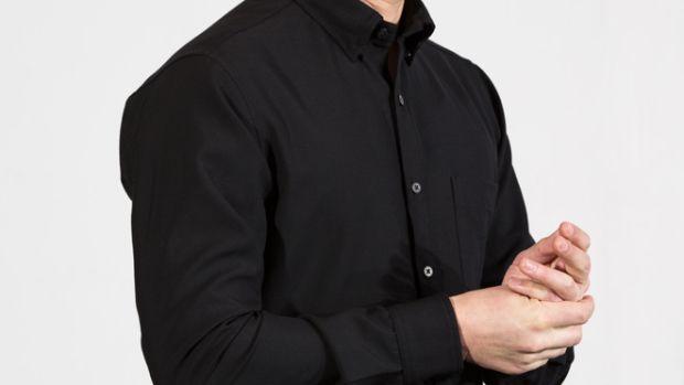 Outlier Black Merino Pivot Shirt