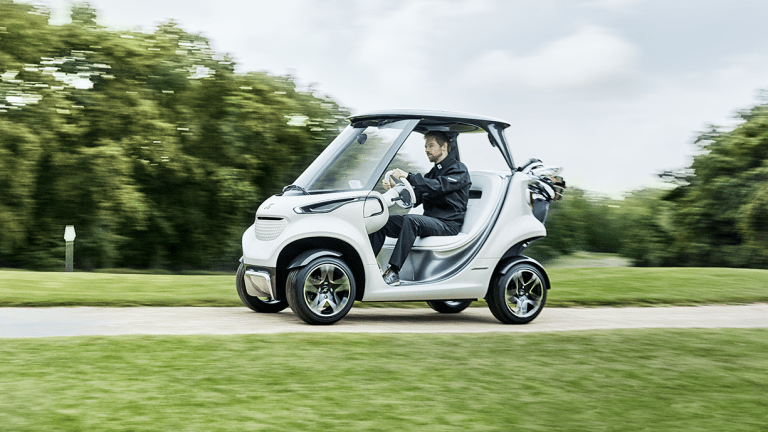 Mercedes hits the links with a new luxury Golf Cart from Garia