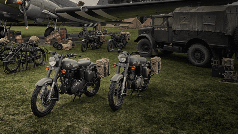 Royal Enfield's Classic 500 Pegasus Edition is inspired by their WW2-era bikes