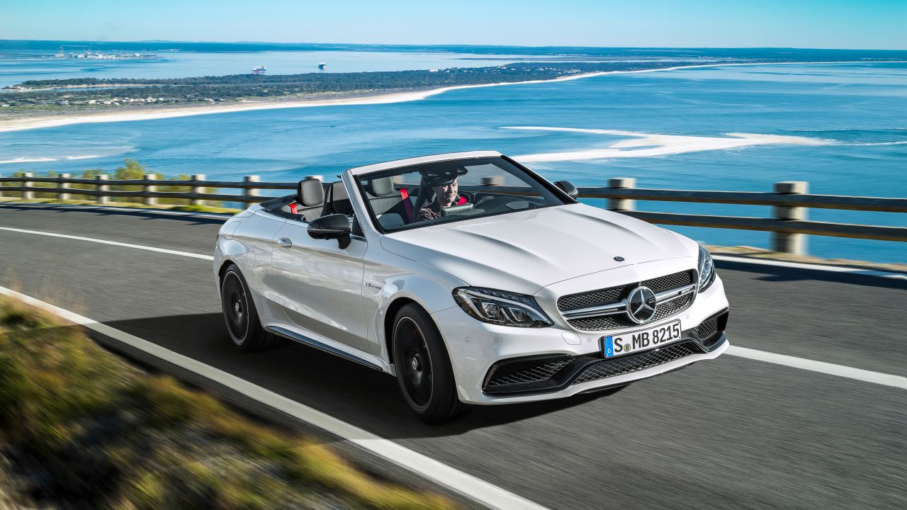 Mercedes 39 first ever c class drop top receives the full for Drop top mercedes benz