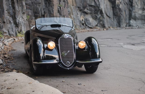 """The 1939 Alfa Romeo 8C 2900B Lungo Touring Spider is the first """"2.9"""" to be offered for public sale this century"""
