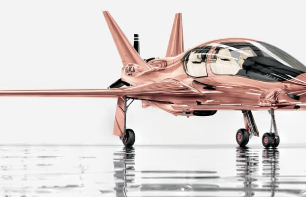 What can $1.5 million buy you today? Well, how about a rose gold airplane?