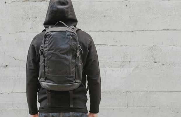 DSPTCH dials it up a notch with a waxed canvas and leather daypack with 3sixteen