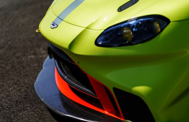 The next-generation Aston Martin Vantage shows off its racing side