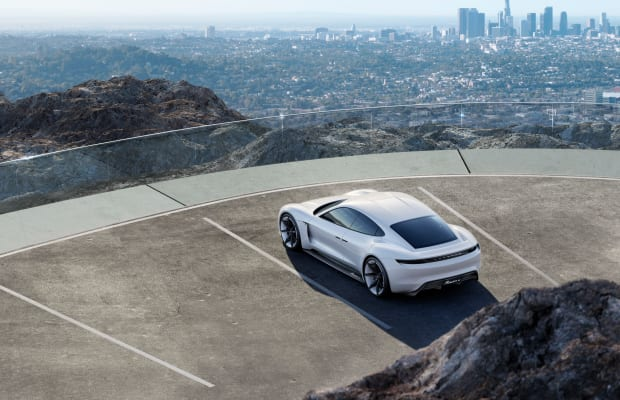 Porsche goes after Tesla with the all-electric, Mission E concept